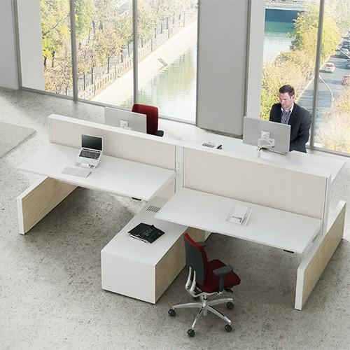 Zit sta bureaus cabinet deluxe (4 werkplekken)
