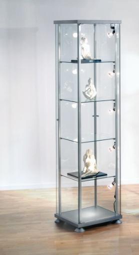 Vierkante vitrinekast